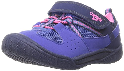 OshKosh B'Gosh Girls' Hallux Sneaker, Blue/Pink, 7 M US Toddler