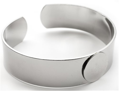 Cousin Craft Basics Silver Tone Metal Cuff Bracelet Blank for Decorating ()