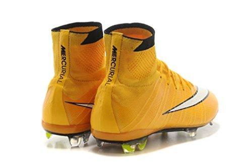 Herren Mercurial X Superfly IV FG–Laser orangewhiteblack Hi Top Fußball Schuhe Fußball Stiefel