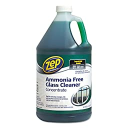 Zep Commercial ZU1052128 Ammonia Free Glass Cleaner, Agradable Scent, 1 gal Bottle
