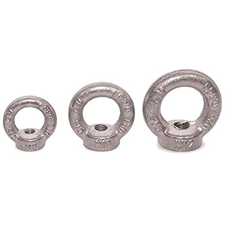 Seilwerk STANKE 25x Ringmutter M6 Ringsmutter 6 mm /Öse Mutter Auge verzinkt
