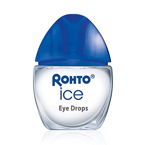 Rohto Ice All-in-one, Multi-Symptom Relief Cooling Eye Drops, 0.4 Ounce, 3 Count (Contacts Eye Blue In)