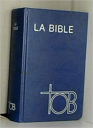 LA AUDIO TÉLÉCHARGER EN BIBLE TOB
