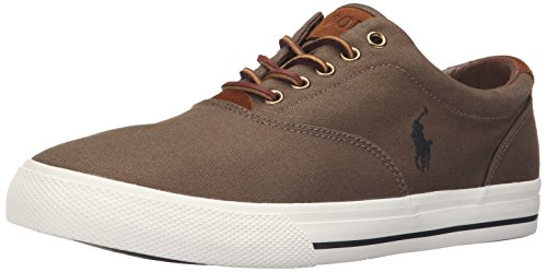 Polo Ralph Lauren Men's Vaughn Canvas Sport Suede Fashion Sneaker, Algae, 12 D US