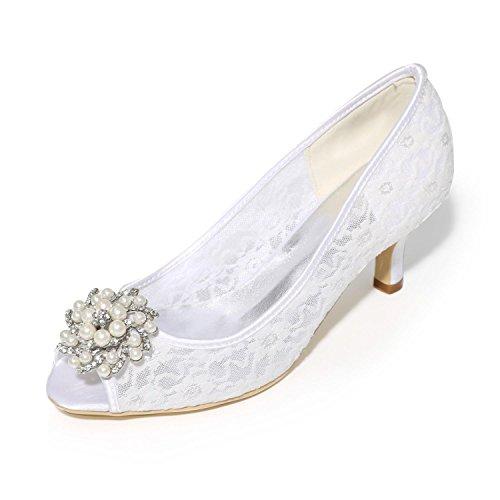 yc Colori amp; party Heel Scarpe Evening Sposa White Donna Wedding L Peep Satin Da Disponibili Stiletto Sandali Toe qUPZxdw