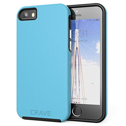 Crave iPhone SE Case, Dual Guard Protection Series Case for iPhone 5 / 5s / SE - Sky Blue