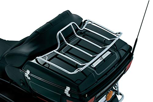 Kuryakyn 7139 Motorcycle Accessory: Trunk Luggage/Storage Rack with Corner Tie Down Points for 1980-2019 Harley-Davidson Motorcycles with Tour-Pak, Chrome ()