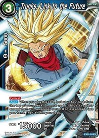 Dragon Ball Super TCG - Trunks, Link to the Future (Foil) - EX01-03 - EX - Expansion Deck Box Set 01 - Mighty Heroes Link Foil