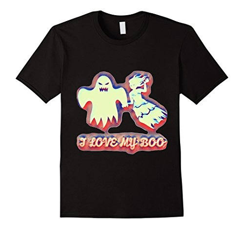 Mens Couples Unique Scary Ghost Halloween costumes love T shirt Large Black (Weird Couples Costumes Halloween)