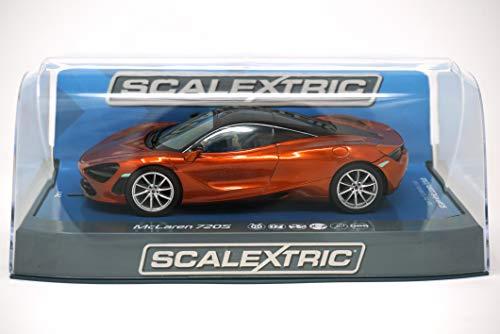 (Scalextric McLaren 720S Azores Orange 1:32 Slot Race Car C3895)