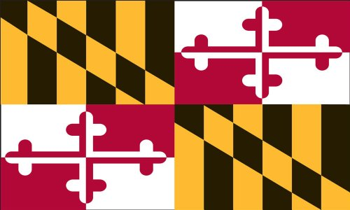 Valley Forge Flag 4-Foot by 6-Foot Nylon Maryland State Flag with Canvas Header and Grommets