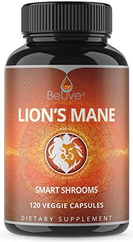 Lions Mane Mushroom Capsules 2300mg Max Strength with Reishi Cordyceps 120 Veggie Pills – Nootropic Immune Support, Added Bioperine for Superior Absorption, Brain Booster