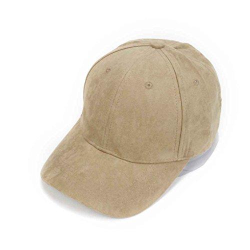 Color de Uzinb Curvo ala Aire Libre de Gorra Sólido Deportes Ajustable Sombrero Béisbol al Sombrero Ante del Unisex 75f5qwg