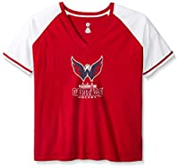 NHL Women's Short Sleeve Raglan Deep V-Neck T-Shirt