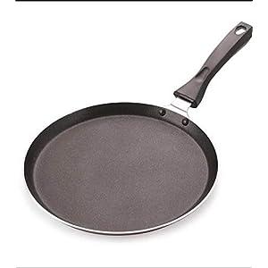 NIRBHARKART Nonstick Aluminium Dosa, Roti, Chapati Tawa/Pan- 23 cm, Grey