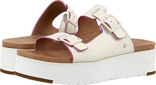 Ugg Women's Hanneli Flat Sandal, White, 9 US/9 B US
