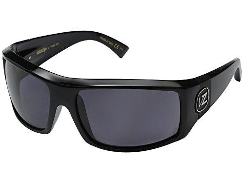 VonZipper Clutch Sunglasses Gloss Black with Wildlife Vintage Grey Polarized Lens
