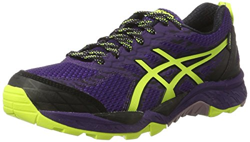 Asics Damen Gel-Fujitrabuco 5 G-tx Traillaufschuhe, Violett (Parachute Purple/Safety Yellow/Black)