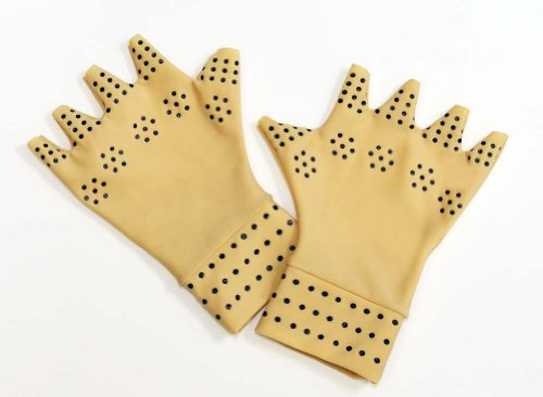 Magnetic Therapy Gloves-Tan-Regular