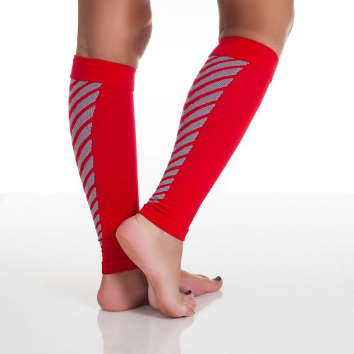 Remedy Calf Compression Sleeve Socks, Red, Large by Remedy (Image #2)