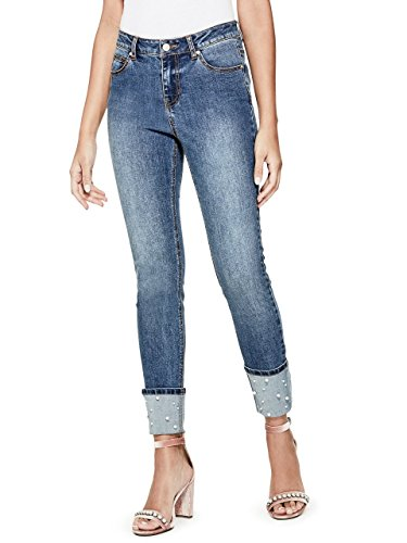 Guess Pearl (G by GUESS Women's Lynn Pearl Cuff Jeans)