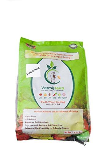 (VermisTerra - Premium Earthworm Castings - Organic 10 LB)