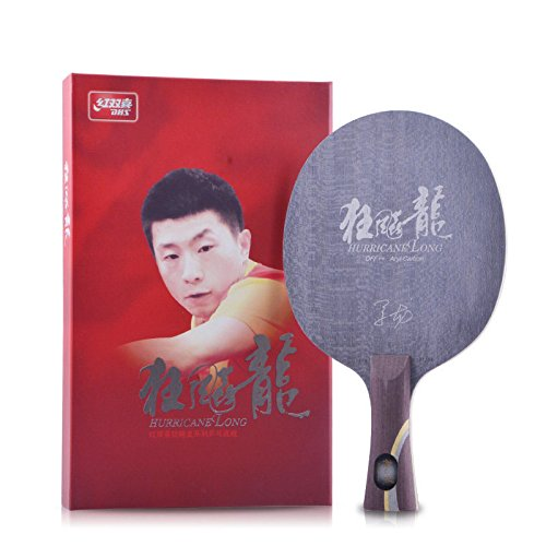 DHS Aryl-Carbon Table Tennis Blade - Shakehand Flared Handle, Ping Pong Blade, Hurricane Long by DHS