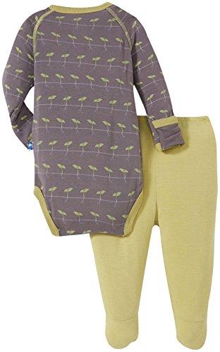 KicKee Pants Baby Boys' Print Kimono Gift Set (Baby) - Rain Sprouts - 0-3 Months
