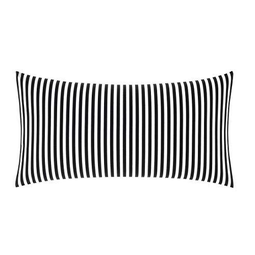 Marimekko AJO Throw Pillow, 15 x 30, Black