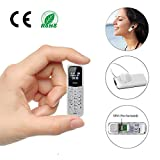Mini Cell Phones Unlocked Bluetooth- Tiny Phone World Smallest Mini Phone GSM Bluetooth Handset Mini Phone Bluetooth Dialer Supported Dual Sim Card BM50(White)