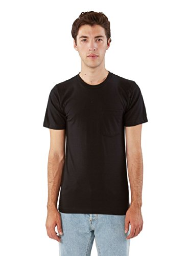 american-apparel-men-fine-jersey-crewneck-pocket-t-shirt-size-m-black