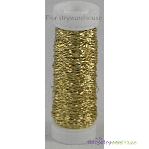 FloristryWarehouse Bullion Floristry Wire Reel 0.88 oz Gold