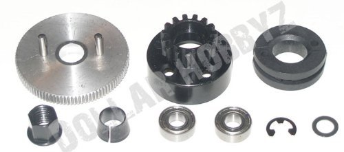 Traxxas NEW Revo 3.3 14T CLUTCH BELL, SHOES, NUT, CONE, BEARINGS & FLYWHEEL