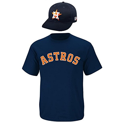 Houston Astros CAP & ADULT XL JERSEY MLB Licensed Replica Combo Set