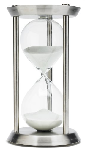 River City Clocks 13 Inch 60 Minute Stainless Steel Hourglass Timer - Model # 1360SS