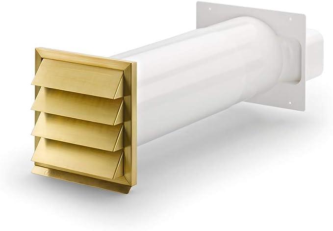 KLIMA-M flow 150 - Caja para pared con jalousie exterior de latón ...
