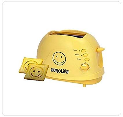 EUROLINE (SMILEY ) POP UP TOASTER 2 SLICE 750 W
