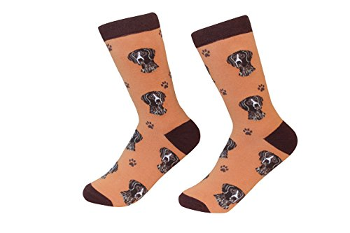 (German Shorthaired Pointer Dog Breed Socks Unisex Sock Daddy by E&S Pets)