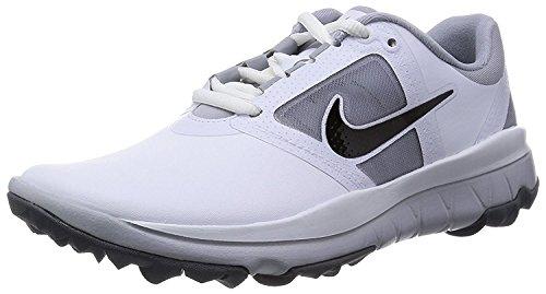 NIKE Golf Womens Fi Impact Golf Shoe, White/Grey/Black, 9.5 B(M) US (Shoe Impact Fi Womens Golf Nike)