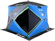 CLAM X-400 Portable 8 Ft 6 Person Pop Up Ice Fishing Thermal Hub Shelter Tent