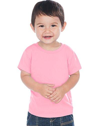 Kavio! Unisex Infants Crew Neck Short Sleeve Tee (Same IJC0432) Bubblegum Pink 6M