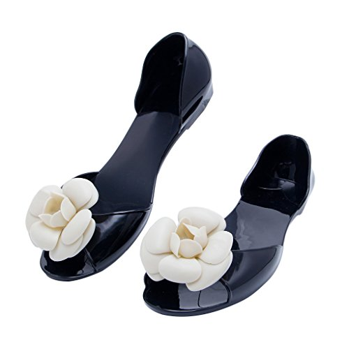 Top-Sell 2017 Verano Zapatos Sandalias De Jalea De Las Mujeres Abrir Zapatos De Sandalia De Playa Sandalias negro