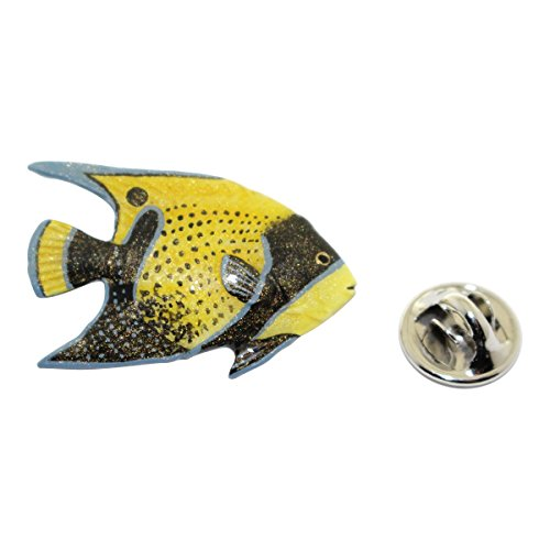 - Angelfish Pin ~ Hand Painted ~ Lapel Pin ~ Sarah's Treats & Treasures