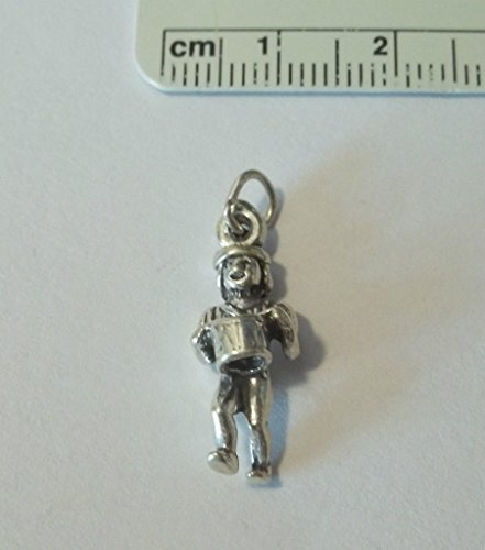 12th Pendant Man - Charm - Sterling Silver - Jewelry - Pendant - 12th Day Drummer Drumming 12 Days of Christmas