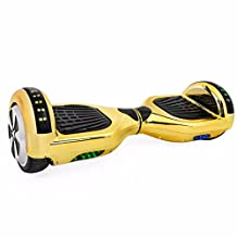 Self Balancing Scooter Hoverboard UL2272 Certified Smart Electric Personal Transportation Bluetooth with LED Light (Gold)
