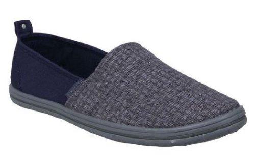 FiretrapAyre Gris Azul Nuevos Mens Canvas Sneaker Plimsoles Zapatos