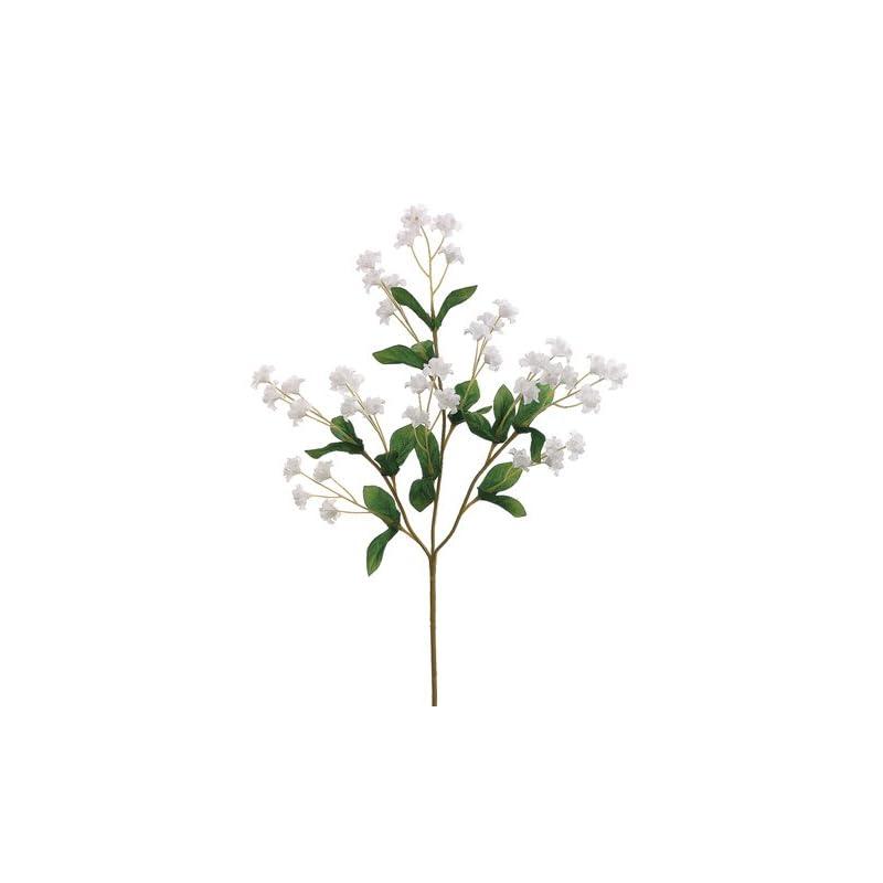 """silk flower arrangements 19"""" silk double baby's breath flower spray -white (pack of 24)"""