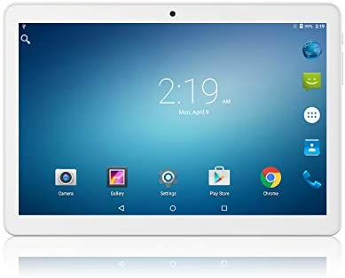 "Lectrus Tablet 10 inch Android 9.0 Pie, GMS Certified, 2GB+32GB, Unlocked Phablet Supports 3G Phone Call, WiFi Tablet PC, 10.1"" IPS Full HD Display, Dual Speakers & Cameras, Blutooth, GPS - Silver"