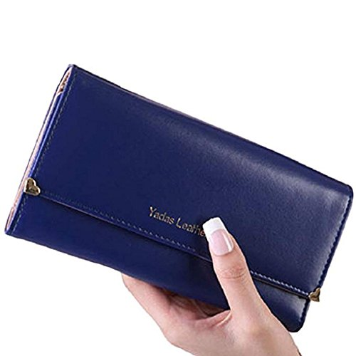 Purse Gift Elegant Noopvan Leather Women wallet Wallet wrist Clearance Blue Long Wallet PU 2018 Bags wallets Clutch cute w4UUH70qx