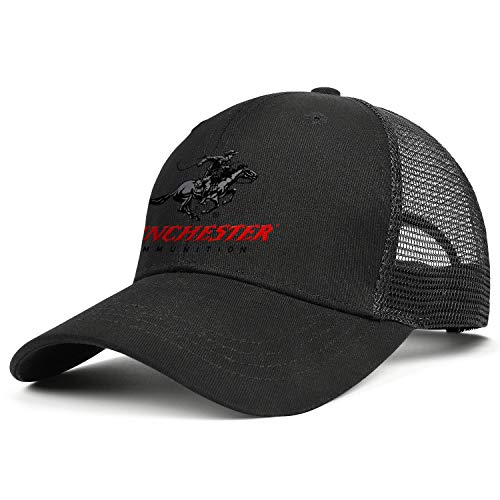Men Women's Logo Winchester Repeating Arms Snapback Ball Cap Top Level Cotton Mesh Caps One Size Adult Hats ()